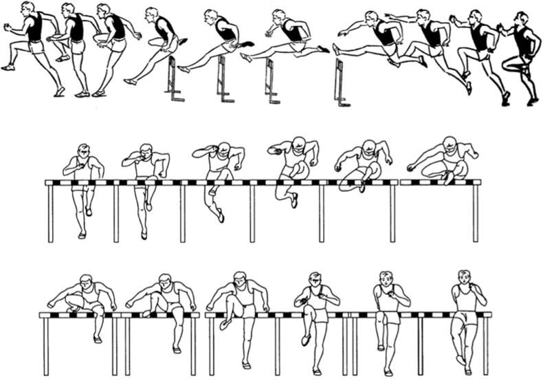 Основи техніки бар'єрного бігу (контурограмма)