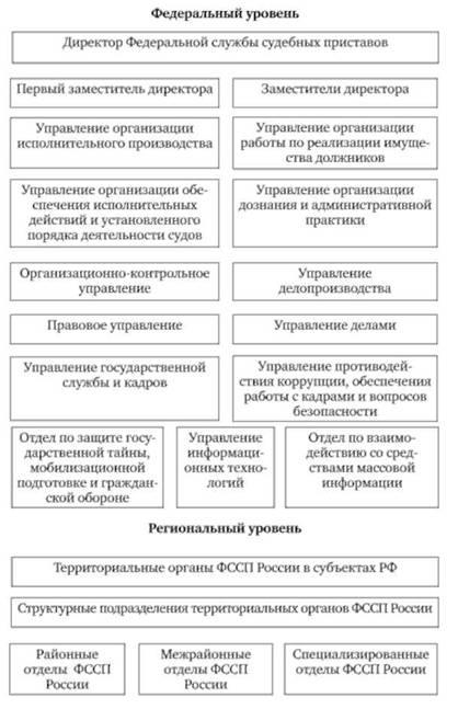 общая структура ца фссп россии Зарубежные